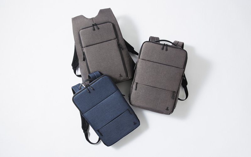 ace與潮牌SOPH.合作Fron Pack後背包,概念從日本的電車通勤族為發想。圖/ace提供
