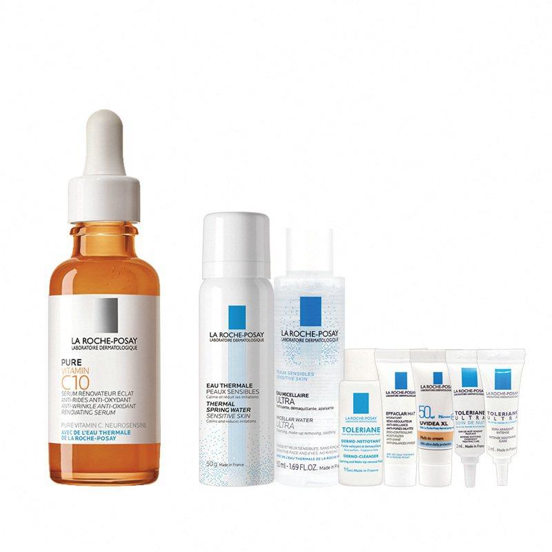 「理膚寶水 X 蝦皮購物超級品牌日」推出理膚寶水C10肌光活膚精華30ml發光美肌新品8件組。圖/理膚寶水提供