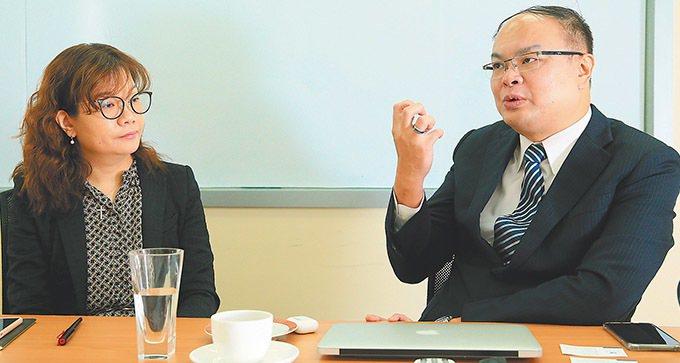 來毅總經理林欣怡(左)來毅執行長林政毅