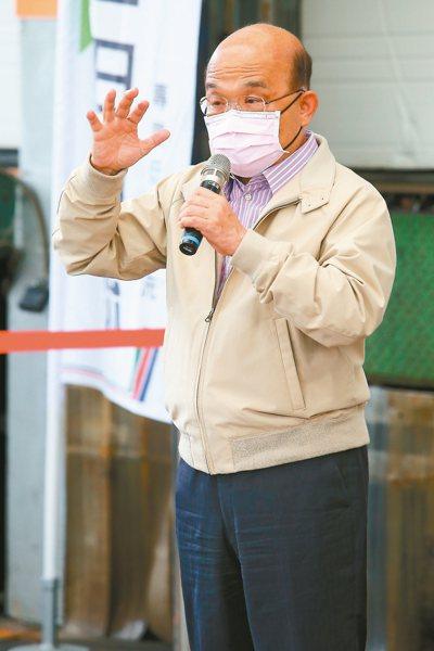 行政院長蘇貞昌昨天表示,針對低收入戶加給1,500元。 記者魏翊庭/攝影