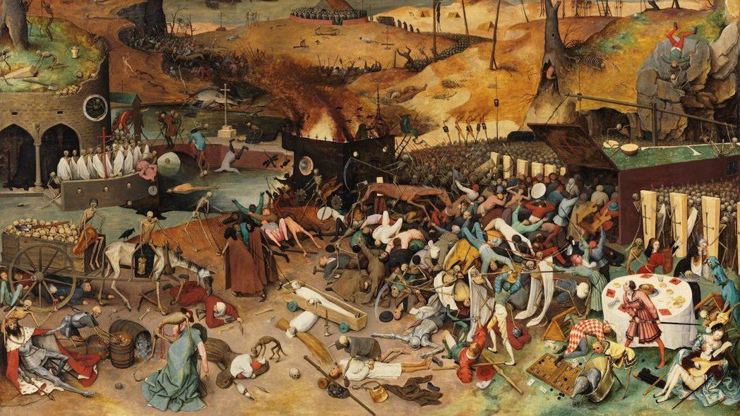 圖為中世紀瘟疫地獄圖像。 圖/維基共享