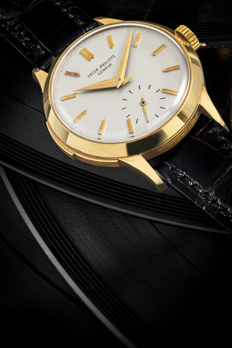 百達翡麗型號2524,18k金表殼三問腕表,約1955年製,極罕有,估價約3,9...
