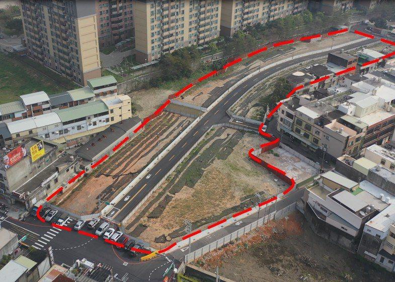 公道三安置基地已於今年2月4日完工,工程經費4540萬元,占地9936平方公尺,規劃82塊基地供拆遷戶選配。圖/新竹市政府提供