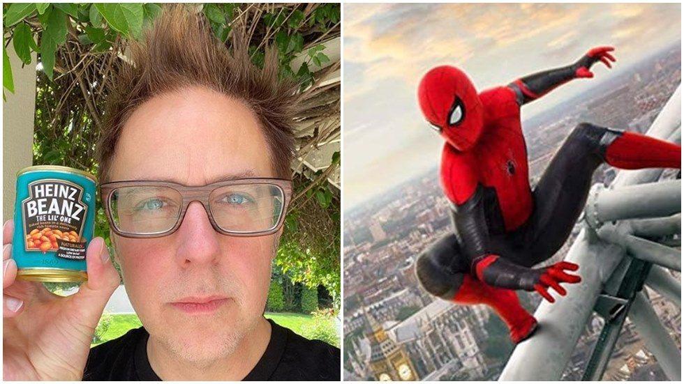 詹姆斯岡恩最喜歡湯姆霍蘭德版「蜘蛛人」。圖/摘自IG(左)、索尼提供(右)