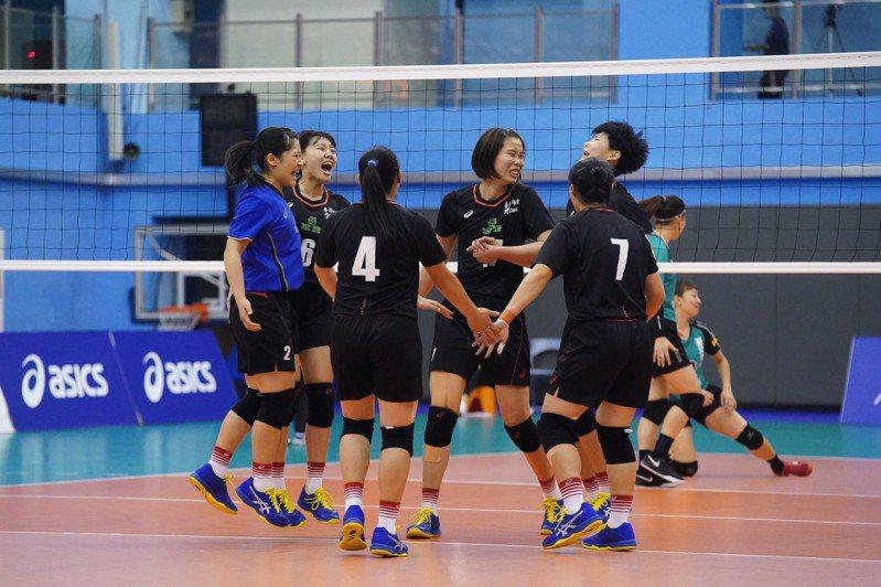 台灣師大完成UVL公開女一級二連霸。圖/大專體育總會提供