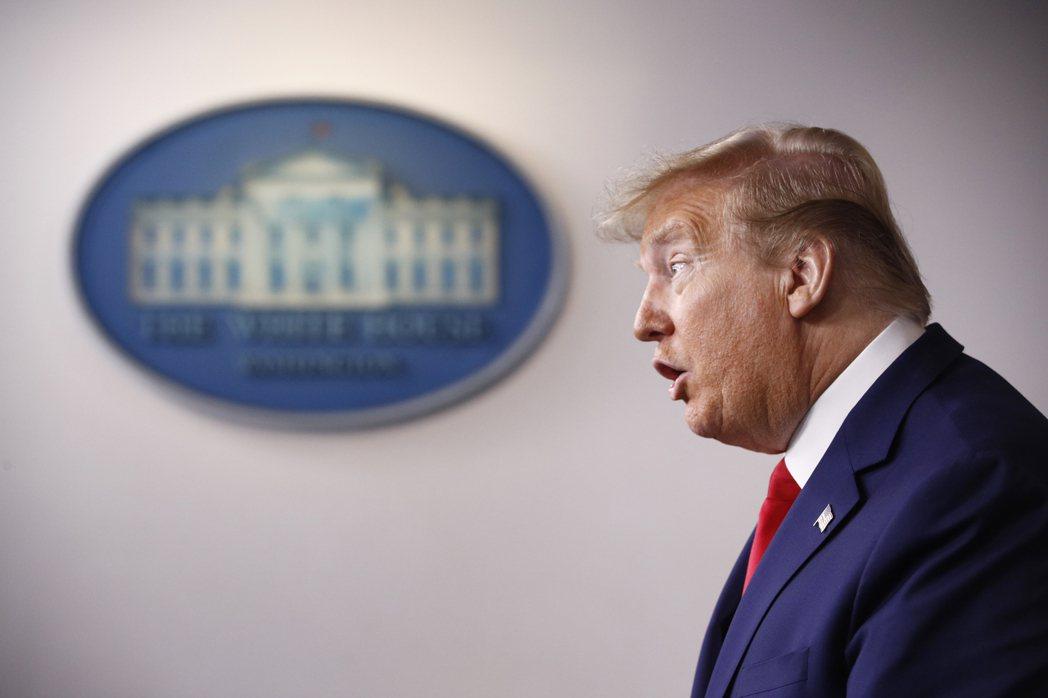 美東時間4月14日,川普表示已指示停止資助世界衛生組織。 圖/美聯社