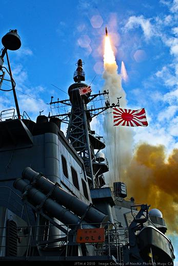 日本由於孤懸海外,與所有敵對國家都有海洋區隔,因此美軍報告認為最適合部署海基中段反彈道系統,只要4套標三系統就足以保護全日本,若採用進階的Block 2A型更只要一套就足以涵蓋。 圖/取自雷神公司網站