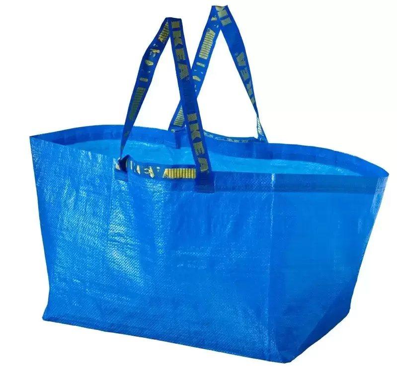 TOP8:FRAKTA環保購物袋29元,是IKEA明星十大商品之一。 圖/IKE...
