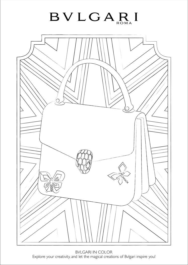 寶格麗著色圖案之一SERPENTI包。圖/取自寶格麗官網