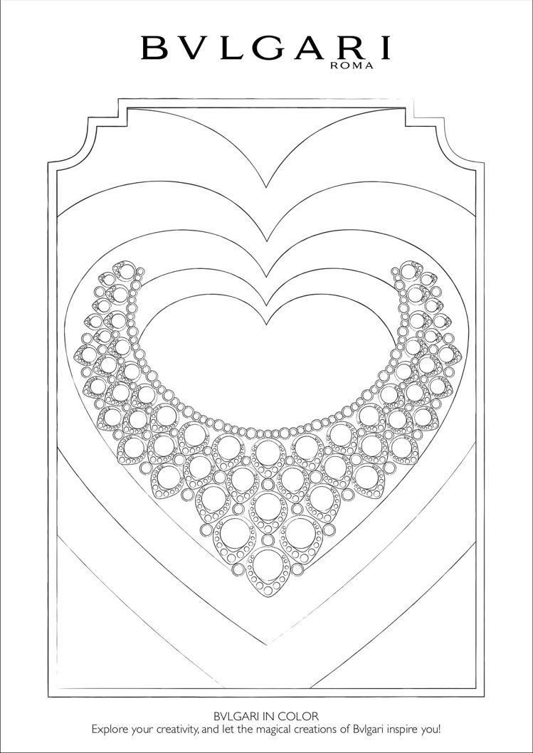 寶格麗著色圖案之一高級珠寶項鍊。圖/取自寶格麗官網