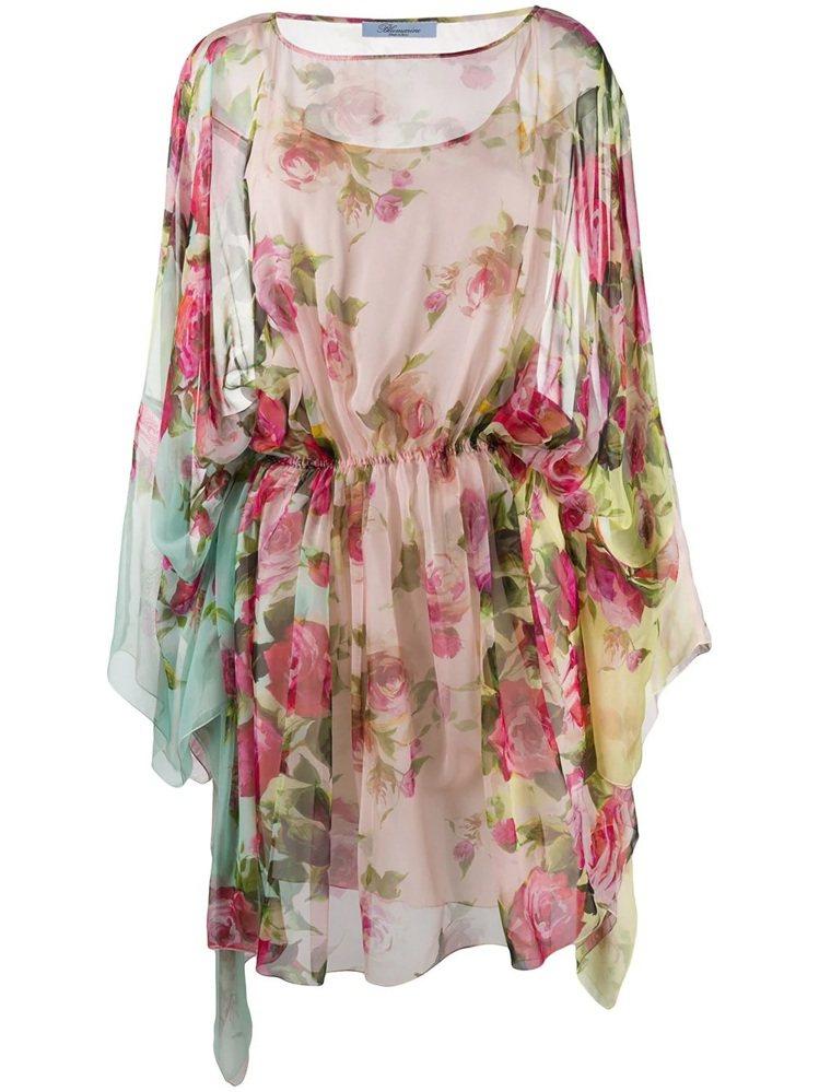 春夏新款粉嫩花卉洋裝,75,800元。圖/Blumarine提供