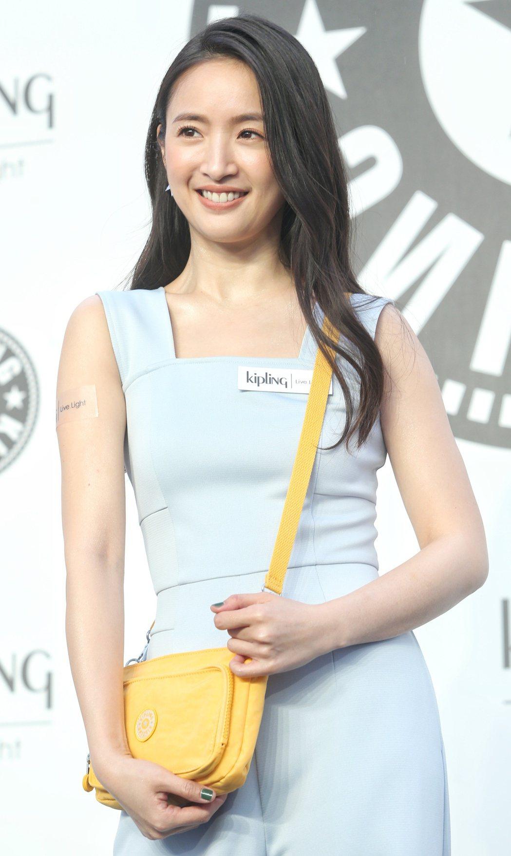 林依晨出席Kipling Taiwan品牌活動。記者侯永全/攝影