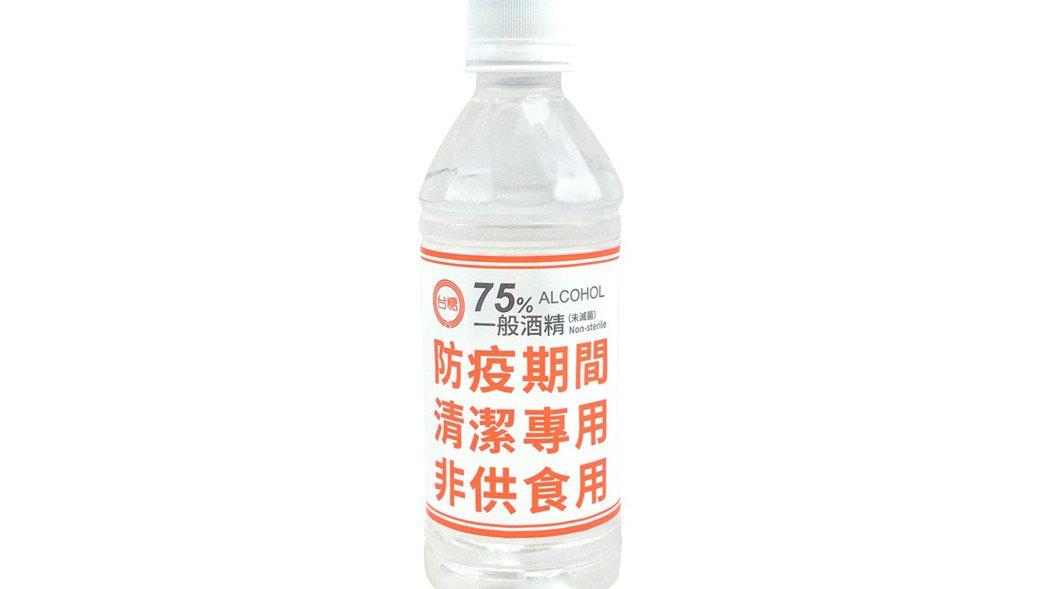 台糖75%酒精(350ml)。  洪紹晏/翻攝