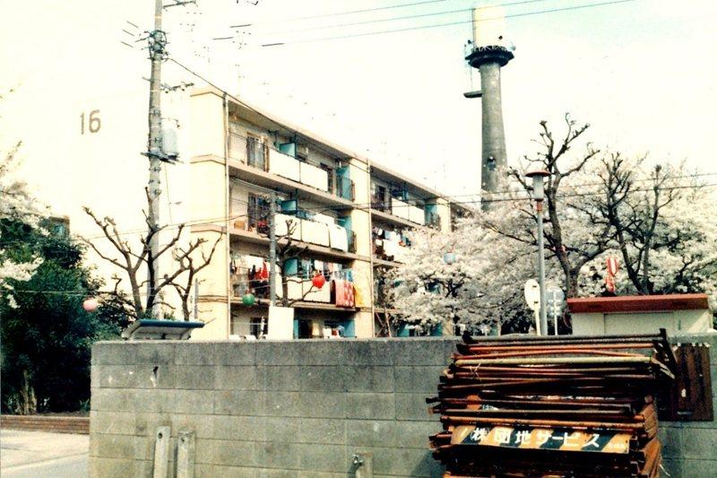 攝於1982年的東京板橋區「蓮根團地」。 圖/維基共享