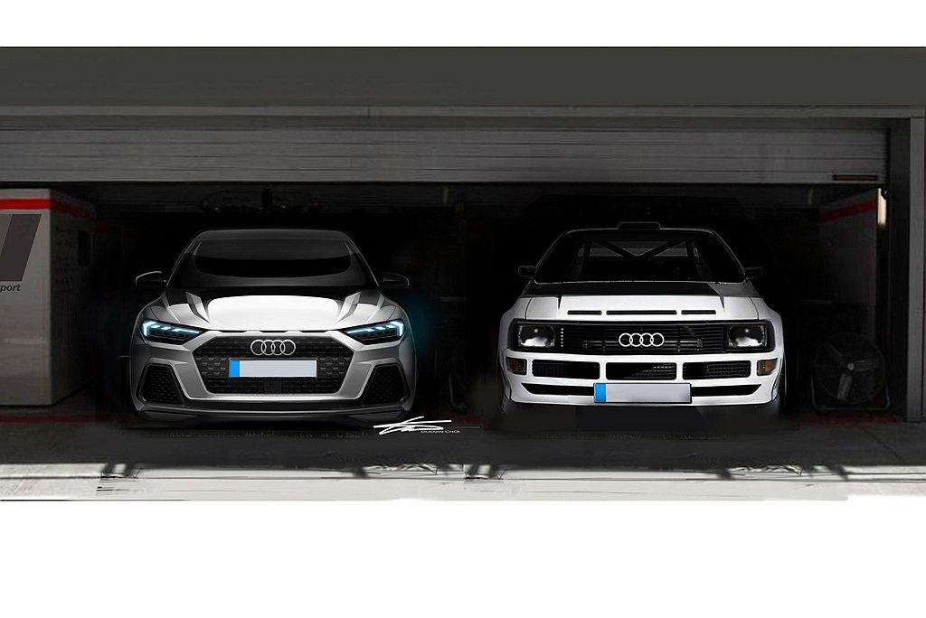 新世代Audi A1 Sportback車頭採用寬扁的單體式盾形水箱護罩,而引擎...