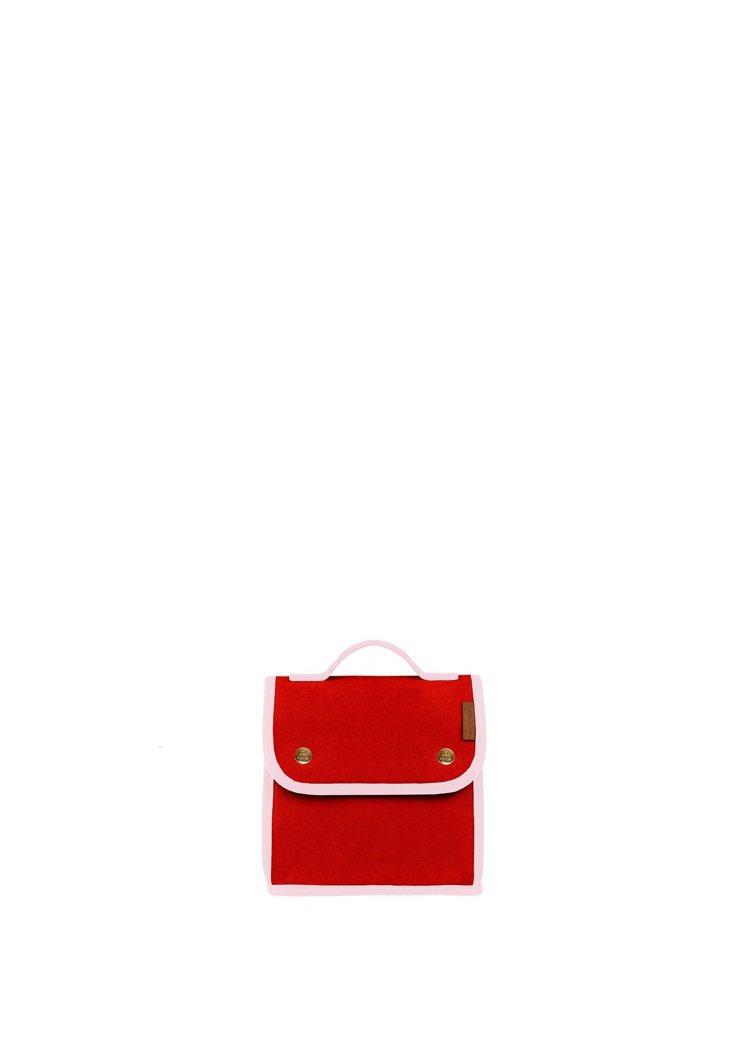 LUNIFORM No°95紅色+粉紅色保冷袋,14,000元(正面)。圖/團團...