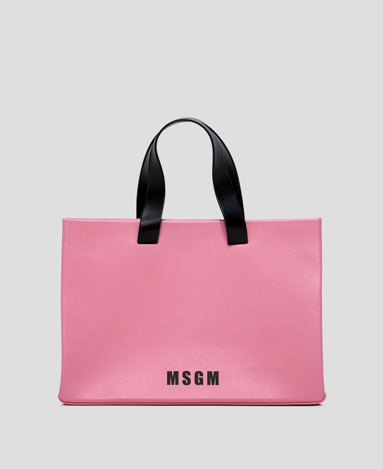 粉紅手提袋,22,800元。圖/MSGM提供