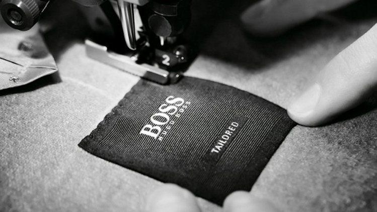 BOSS時裝裡只要屬於正式西上裝,標籤上都將有BOSS tailored字樣。圖...