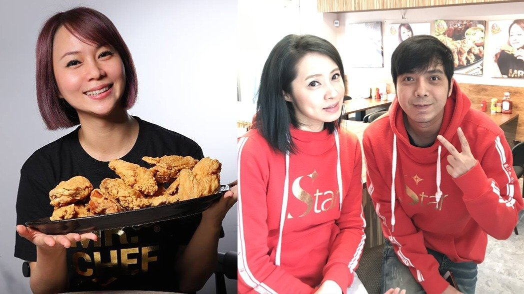 Stacy(左)和小炳都在洪百榕的炸雞店打工,背後是想學得開店經驗,未來才能實現...