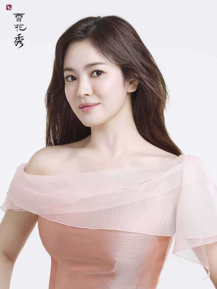 雪花秀代言人宋慧喬,也愛穿粉色衣服。圖/雪花秀提供