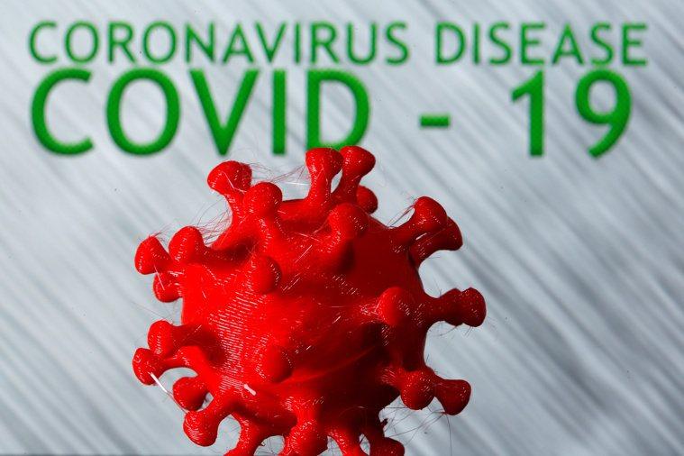 3D列印的新冠病毒模型。路透