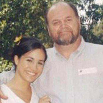 湯瑪斯馬可與女兒梅根曾經感情親密。圖/摘自twitter