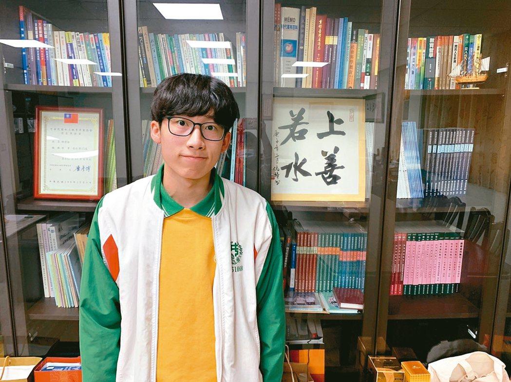 為了救爸爸,泰北高中楊澐坤毅然決然捐出50%的肝臟給父親。 記者趙宥寧/攝影