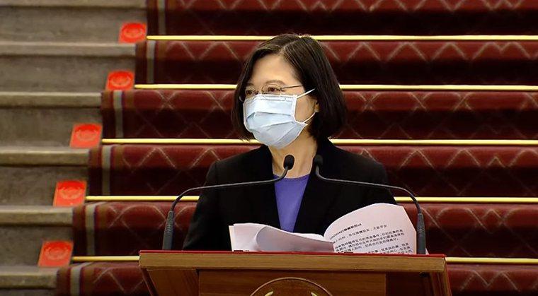 敦睦艦隊染疫,蔡總統今道歉。圖/擷自udn tv