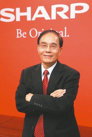 夏普社長兼會長戴正吳四策略讓百年品牌獲利回穩。 本報系資料庫