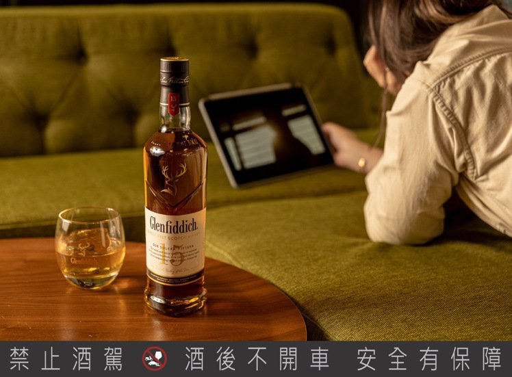 Glenfiddich格蘭菲迪15年單一麥芽威士忌。建議售價:1,400元。圖/...