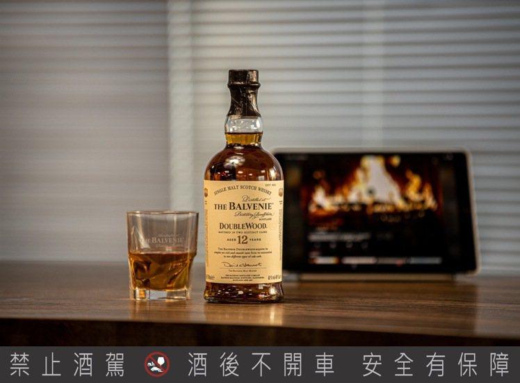 The Balvenie百富12年雙桶單一麥芽威士忌。建議售價1,400元。圖/...