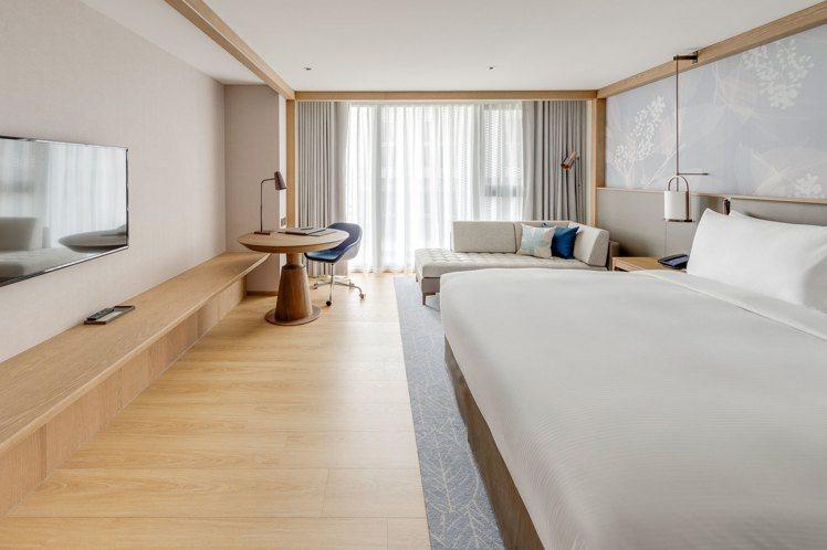 台北中山希爾頓逸林酒店每一間客房都是獨立空調,且擁有對外窗或陽台。圖/台北中山希...