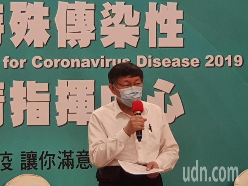 台北市長柯文哲上午出席里長座談前受訪。記者楊正海/攝影