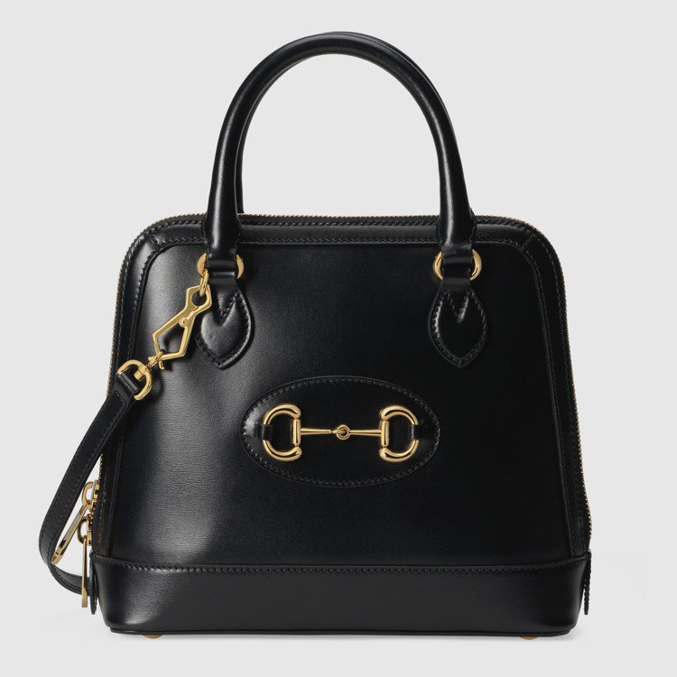 1955 Horsebit黑色小型手提包,84,400元。圖/GUCCI提供