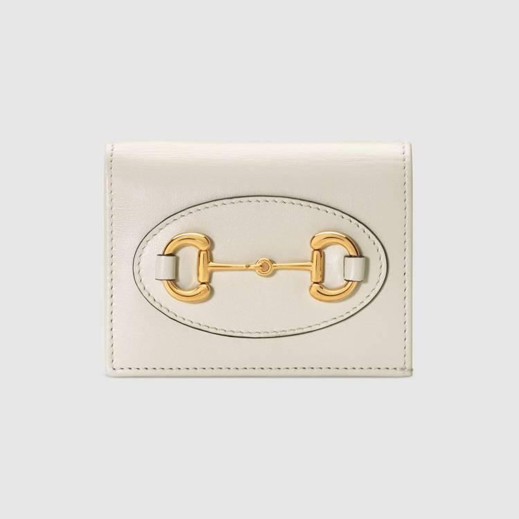 1955 Horsebit白色卡夾錢包,16,500元。圖/GUCCI提供