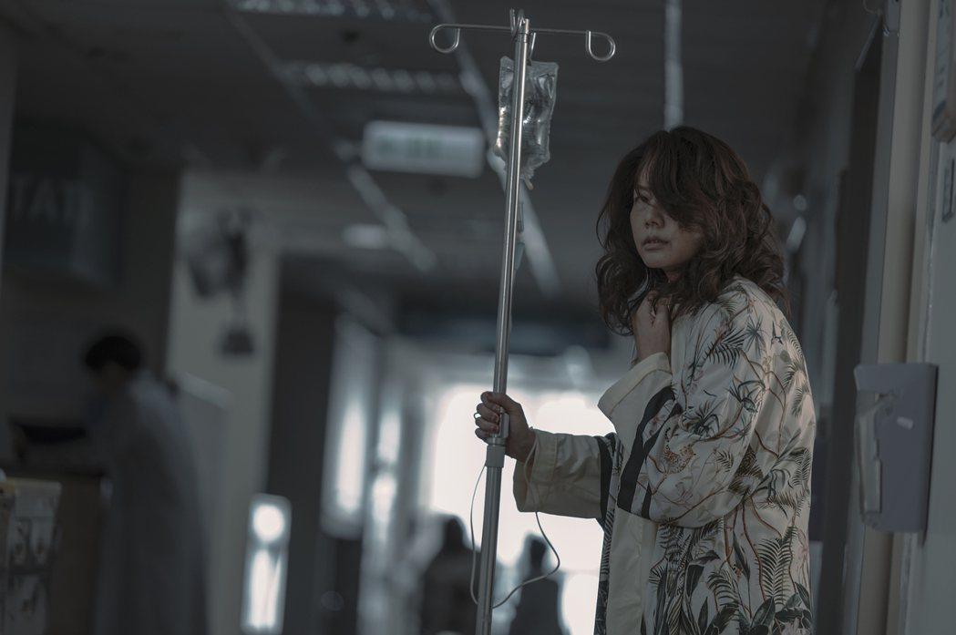 丁寧在「誰是被害者」中飾演過氣女星。圖/Netflix提供