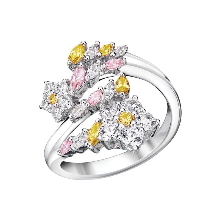 ATELIER SWAROVSKI BOTANICAL開口戒指/12,900元。...