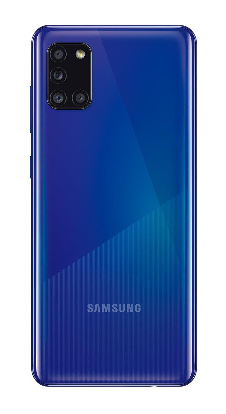 Samsung Galaxy A31「晶絢藍」,單機價9,990元。圖/三星提供