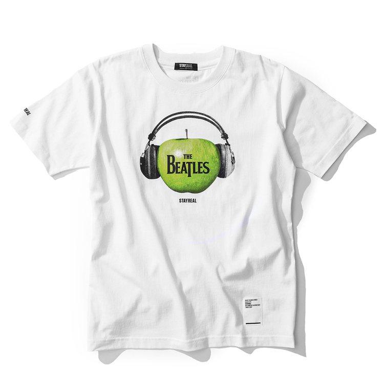 Beatles蘋果唱片T恤1,280元。圖/Stayreal提供