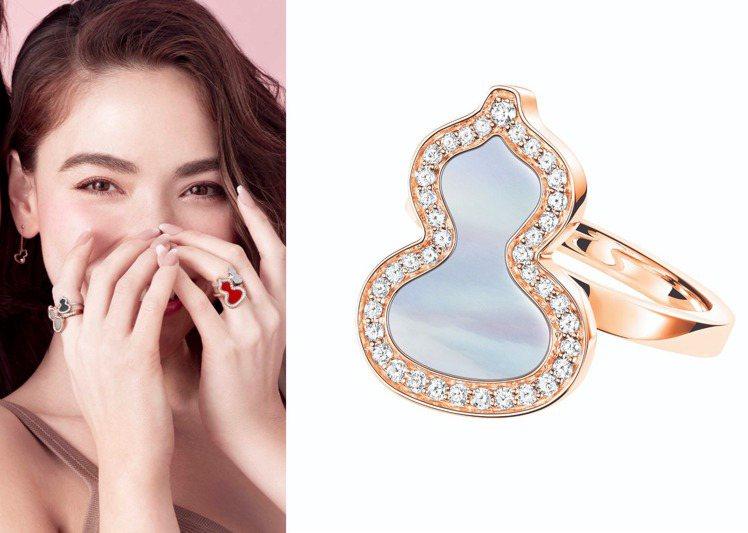 Qeelin的Wulu系列推出多款鑲嵌有鑽石與翡翠、珍珠母貝與黑色鋯瑪瑙的珠寶戒...