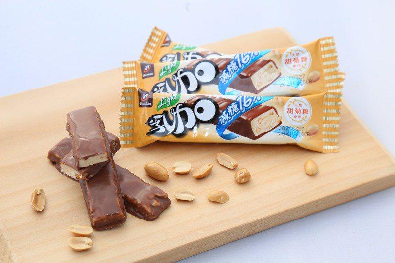 國內老牌食品大廠宏亞今年4月首度推出77乳加系列減糖版巧克力「77乳加Light」。捷思公關/提供