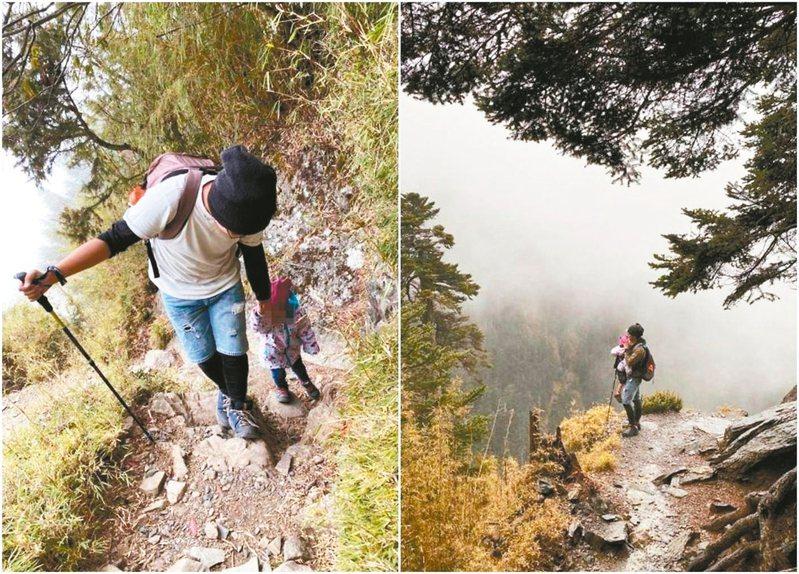 一對爸媽上周日帶3歲女童攀登玉山,將過程分享在PTT和網路,引發網友正反熱議批評。 圖/翻攝自PTT
