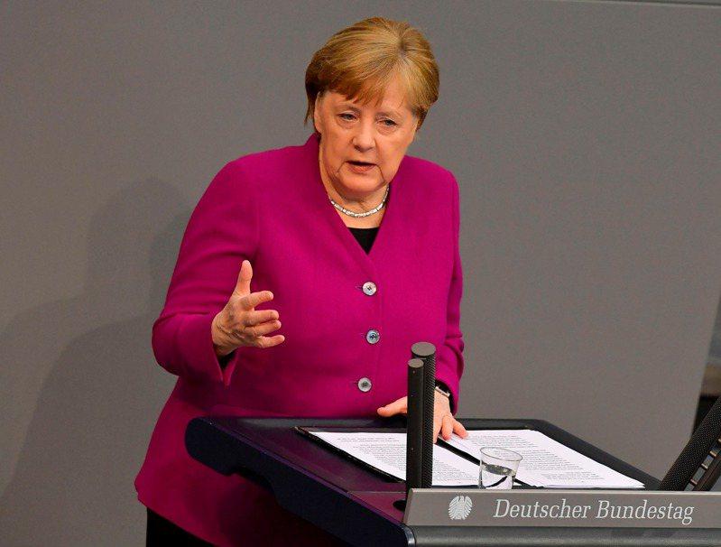 德國總理梅克爾。 法新社