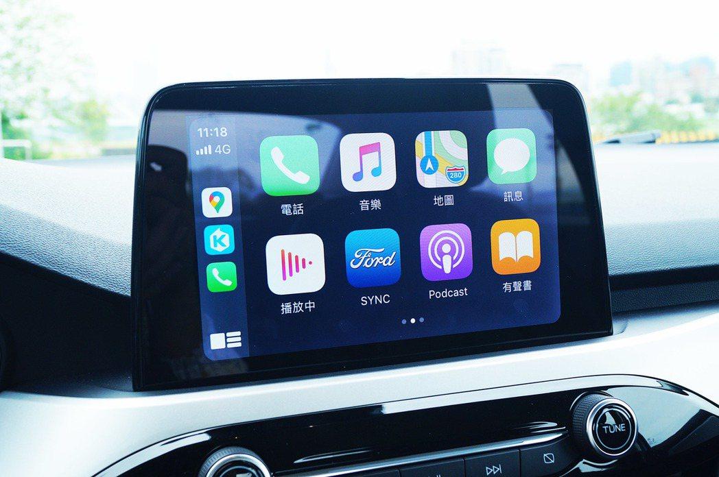 即便四門佛心與17TSR的SYNC版本不同,但通通都有支援Apple Car P...