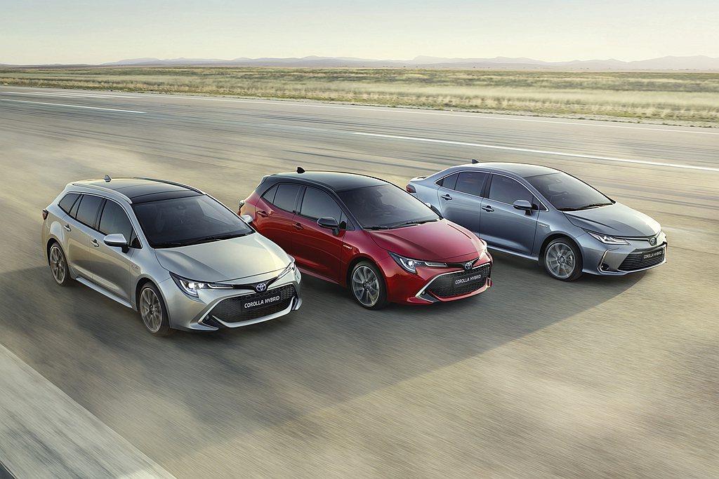 第一季銷售漲幅最大的是Toyota Corolla車系,Sedan房車、Hatc...
