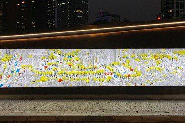 台中工家美術館的在地延伸:勤美攜手藝術家Croter、小路映画打造「草悟道上河圖」藝術地景