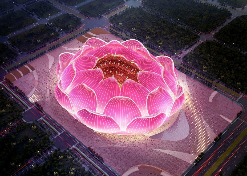 恆大剛開工的新主場,耗資120億人民幣,目標鎖定世界第一主場,但其蓮花造型,卻被...