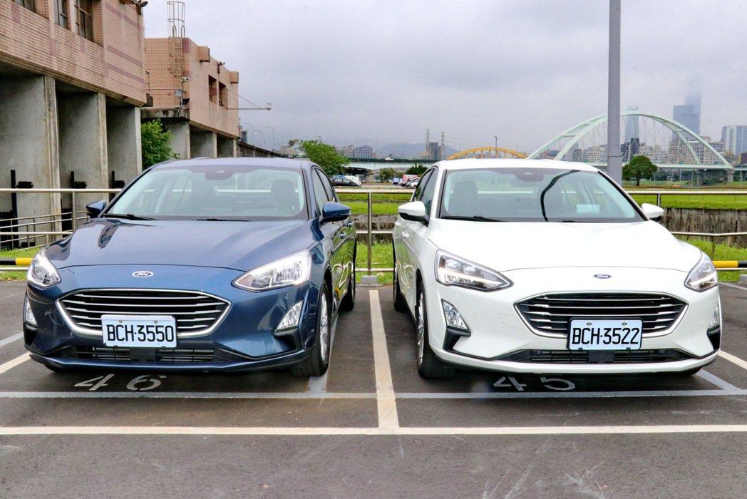 Ford Focus四門車型也提供相當多選擇。 記者陳威任/攝影