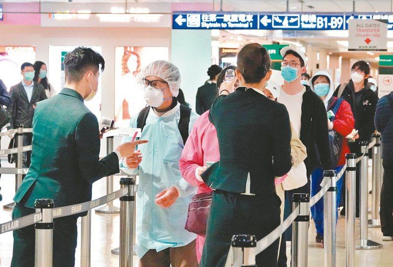 「限縮兩岸航空客運直航航線」及「全面禁止旅客來台轉機」將繼續延長,何時解禁仍待視疫情狀況決定。圖/聯合報系資料照片
