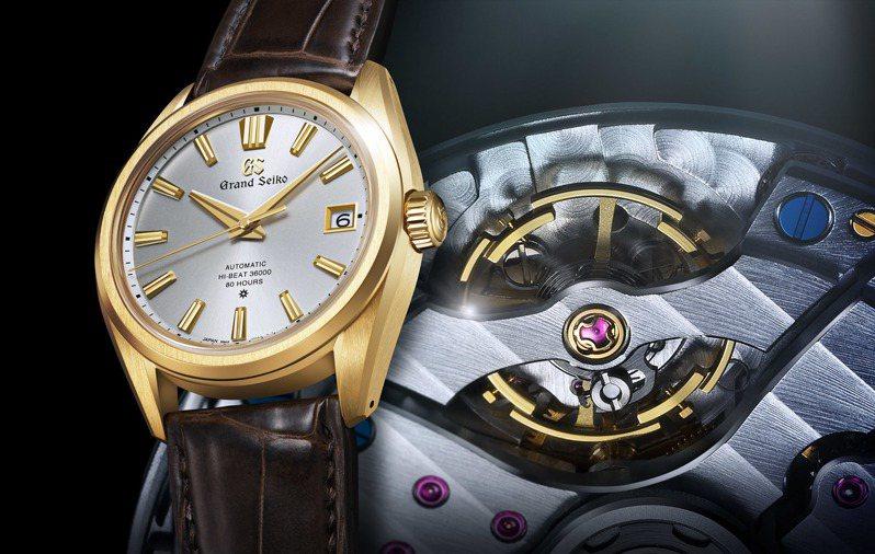 Grand Seiko 60周年紀念SLGH002腕表,搭載了全新的9SA5機芯,日誤差達到正負8秒間,提升動力儲存到80小時。圖/SEIKO提供